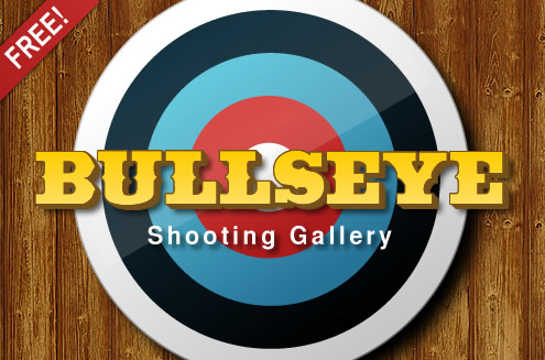 Bullseye Shooting Gallery, exclusively for Android